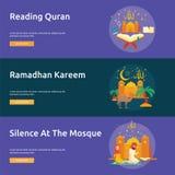 Eid et Ramadan Banner Design illustration stock