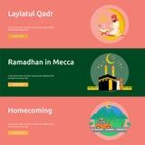Eid et Ramadan Banner Design illustration libre de droits