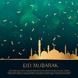 Eid festival celebration background with golden confetti. Vector Stock Photography