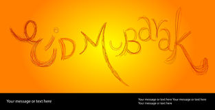 Eid Greeting Card Stock Photography