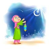 Eid ka chand mubarak Stock Image
