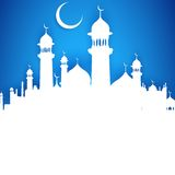 Eid ka Chand Mubarak (Wish you a Happy Eid Moon) Royalty Free Stock Photography