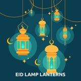 Eid Lamp Lenterns Conceptual Icon illustration libre de droits