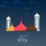 Eid Mubarak Abstarct Royaltyfri Foto