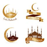 Eid Mubarak background. Abstract eid mubarak background with some special objects vector illustration