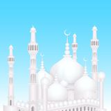 Eid Mubarak background with Islamic Mosque Royalty Free Stock Photography