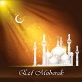 Eid Mubarak background with Islamic Mosque Royalty Free Stock Photos