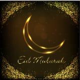 EId Mubarak background with shiny moon. EPS 10. Royalty Free Stock Photos