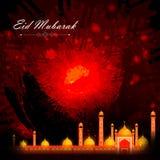 Eid Mubarak background stock illustration