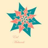 Eid Mubarak bakgrund Arkivbild