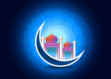 Eid Mubarak 17. Beautiful ramadan card and background Stock Photos