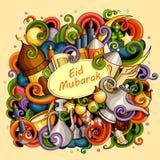 Eid Mubarak Blessing for Eid background Royalty Free Stock Photos