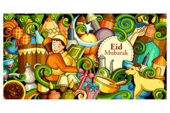 Eid Mubarak Blessing for Eid background Royalty Free Stock Image