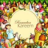 Eid Mubarak Blessing för Eid bakgrund royaltyfri illustrationer
