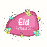 Eid Mubarak celebration with beautiful frame. Royalty Free Stock Images