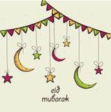 Eid Mubarak celebration greeting card design. Stock Images