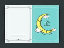 Eid Mubarak celebration greeting card design. Royalty Free Stock Image