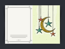 Eid Mubarak celebration greeting card design. Royalty Free Stock Photos