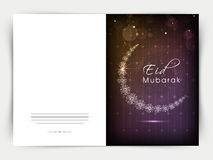 Eid Mubarak celebration greeting card. Royalty Free Stock Image
