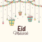 Eid Mubarak celebration greeting card. Royalty Free Stock Photos