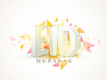 Eid Mubarak celebration with stylish 3D text. Stock Photography