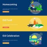 Eid Mubarak Conceptual Banner Design Photographie stock libre de droits