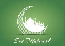 Eid Mubarak Design Background. Vector Illustration for greeting card, poster and banner. CDR File Stock Photos