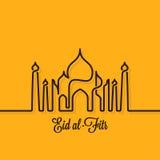 Eid Mubarak design line concept background Royalty Free Stock Image