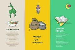 Eid Mubarak feliz ilustração stock
