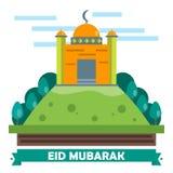 Eid Mubarak Flat Design Card Photos libres de droits