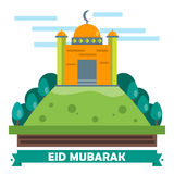 Eid Mubarak Flat design card Royalty Free Stock Photos