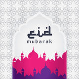 Eid Mubarak, greeting background Stock Photos