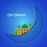 Eid Mubarak greeting card design Royalty Free Stock Photo