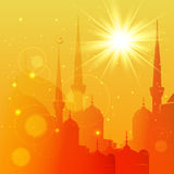 Eid Mubarak greeting card design Stock Photography