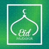 Eid Mubarak greeting card Stock Image