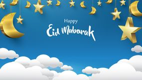 Eid Mubarak greeting Card Illustration, ramadan kareem, Wishing for Islamic festival for banner, background, illustration,. Brochure and sale background with vector illustration