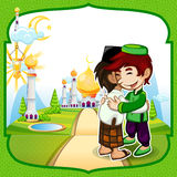 Eid Mubarak Greeting Card Stock Images
