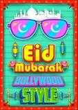 Eid Mubarak (Happy Eid) background Bollywood Style Royalty Free Stock Image
