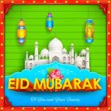 Eid Mubarak (Happy Eid) background desi style Stock Image