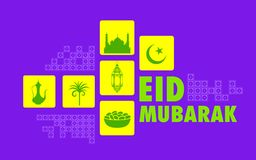 Eid Mubarak (Happy Eid) background Royalty Free Stock Photos