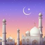Eid Mubarak (Happy Eid) background. Illustration of Eid Mubarak (Happy Eid) background with mosque vector illustration