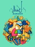 Eid Mubarak Happy Eid background for Islam religious festival on holy month of Ramazan Royalty Free Stock Photo