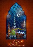 Eid Mubarak Happy Eid background for Islam religious festival on holy month of Ramazan. Illustration of Eid Mubarak Happy Eid background for Islam religious Royalty Free Stock Image
