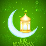 Eid Mubarak (Happy Eid) card Royalty Free Stock Images