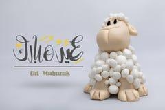 Eid Mubarak, het festival van Moslims en het vieren dagen Stock Foto