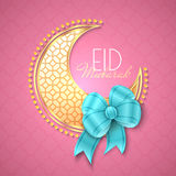 Eid Mubarak Islamic Greeting Background Image stock