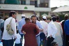 Eid Mubarak ist moslemische Feier, nachdem er in ramadhan gefastet hat Lizenzfreie Stockbilder