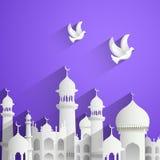 Eid Mubarak (lyckliga Eid) bakgrund vektor illustrationer