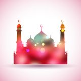 Eid Mubarak (lyckliga Eid) bakgrund Arkivfoto