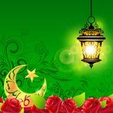 Eid Mubarak (lyckliga Eid) bakgrund Arkivbild